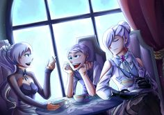 Just a usual tea time with the Schnee siblings I do wonder what is Weiss talking about, Probably about her team leader Ruby? PS: Thanks to the comments that this artwork's titl. Rwby Rose, Rwby White Rose, Rwby Anime, Rwby Fanart, Rwby Winter, Rwby Crossover, Rwby Weiss, Rwby Bumblebee, Red Like Roses