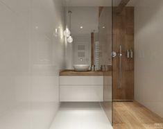 Projekt łazienek. Stratford, Anglia. - Średnia łazienka w bloku bez okna, styl skandynawski - zdjęcie od PRØJEKTYW | Architektura Wnętrz & Design