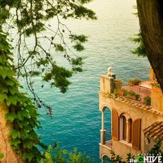I'd like to jump off that balcony into the water in a full evening dress.