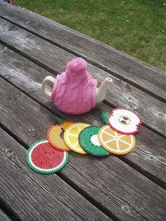 Fruit Coasters made from Hama Beads - Sladké podšálky by HamaParadise - SAShE.sk - Handmade Dekorácie