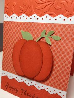 Thanksgiving Happy Harmony by - Cards and Paper Crafts at Splitcoaststampers Thanksgiving Greeting Cards, Fall Cards, Holiday Cards, Christmas Cards, Pumpkin Cards, Make Your Own Card, Stamping Up Cards, Halloween Cards, Scrapbook Cards
