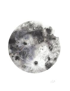 "The Moon - ""Luna"" watercolor poster print"