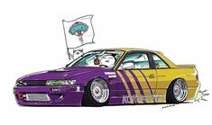 "CRAZY CAR ART ""S13 SILVIA"" owned by KORUWORKS http://koruworks.com original characters ""mame mame rock"" / © ozizo Official web shop ""STAY CRAZY (in Society6)"" Official web shop ""ozizo(in Redbubble)"" ""Crazy Car Art"" Line stickers ""Crazy car Art""..."