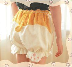 Home Kawaii Women Lolita Girl Corgi Hip Shorts Harajuku Cute Dog Pumpkin Bud Bubble Bloomers Shorts Under Pants Safety Shorts Cosplay Handsome Appearance