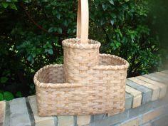 Double Kangaroo Pouch Magazine Basket Handwoven
