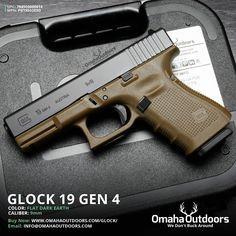 Glock 19 Gen 4 FDE / Tan 9mm 15 4″ Handgun - Omaha Outdoors  Find our speedloader now!  www.raeind.com  or  http://www.amazon.com/shops/raeind