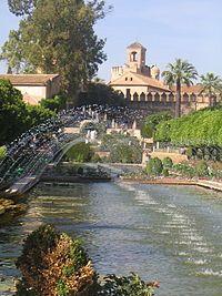 Jardines del Alcázar de los Reyes Cristianos en Córdoba.