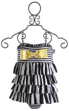 Mud Pie Infant and Toddler Black and White Swimsuit