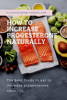 Foods you can eat to naturally increase your progesterone levels. Perfect for those with progestin intolerance! Endometriosis Symptoms, Natural Remedies For Endometriosis, Stress Symptoms, Balance Hormones Naturally, Balancing Hormones, Increase Progesterone Naturally, Progesterone Foods, Endo Diet, Stress Relief Tips