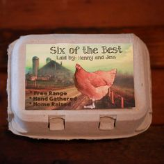 Custom Personalized Egg Carton Labels Chicken Coop Supplies Food Labels Fresh Chicken, Chicken Eggs, Roast Chicken, Keeping Chickens, Raising Chickens, Selling Eggs, Chicken Crafts, Chicken Ideas, Building A Chicken Coop
