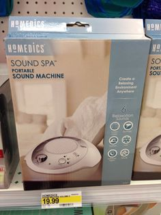StyleBlueprint Birmingham Finds January 2014: perfect size Spa Sound Machine available at Target
