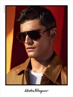 30778d7b30ac Sean O Pry Fronts Salvatore Ferragamo Spring Summer 2014 Men s Eyewear  Campaign