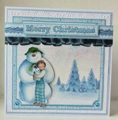 angel4031:  Snowman & Snowdog from Crafter's Companion