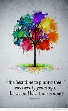 Pinner says : The best time to plant a tree. My children and I will be planting our symbolic tree in our backyard this spring to symbolize establishing our 'new roots', our new life together and the strength and resilience of the 3 of us as Family.