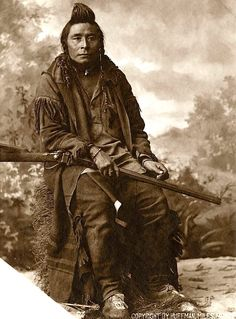 A Crow hunter. 1880. Montana. Photo by L.A. Huffman. Source - Montana Historical Society.