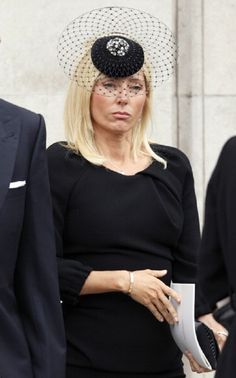 Crown Princess Marie Chantal of Greece attends the funeral of former British PM Baroness Margaret Thatcher at St Paul's Cathedral on 17 April 2013 in London