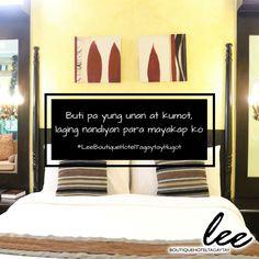Hindi mo ramdam ang lungkot at pagse-senti sa ulan at malamig na panahon dahil sa #LeeBoutiqueHotel, komportable ka sa malambot na kama, kumot, at unan na yayakapin mo. Magbook na sa www.leeboutiquehotel.com!  #LeeBoutiqueHotelTagaytayHugot