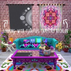 Sims 4 CC's - The Best: Tapestry Recolors by SimmingWithFloaties: