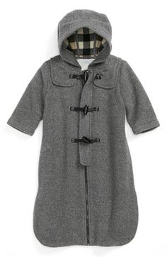 Burberry Hooded Wool Bunting (Baby Boys) | Nordstrom