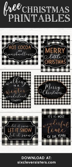 You're going to love our free Christmas buffalo plaid printables for the season! We have six different buffalo plaid designs for you! Add these festive holiday free printables to your Christmas decor! Plaid Christmas, Christmas Signs, Rustic Christmas, White Christmas, Christmas Holidays, Christmas Wreaths, Christmas Crafts, Christmas Ideas, Christmas 2019