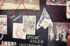 30th birthday party, Sherlock decor, Irene Adler, Victorian crime, backdrop, party decor