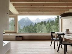 Set on the mountain plateau of Tschengla in Bürserberg, Austria, 'House in Tschengla' is a wooden holiday home designed by Innauer-Matt Architekten in Feldkirch, Garden Studio, Home Studio, Journal Du Design, Modern Cottage, Construction, House And Home Magazine, Contemporary Decor, Home Interior Design