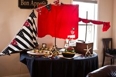pirate ship decorations   pirate ship table   Parties and Ideas