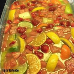 Margarita Jungle Juice - For more delicious recipes and drinks, visit us here: www.tipsybartender.com