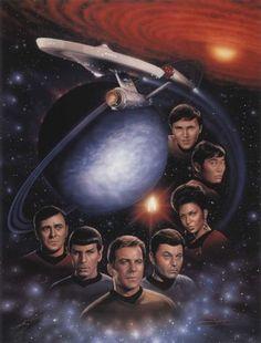 Star Trek First Family Lithograph @ niftywarehouse.com #NiftyWarehouse #StarTrek #Trekkie #Geek #Nerd #Products