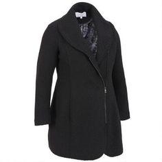 Plus Size Jessica Simpson Asymmetrical Zip Wool-Blend Walker