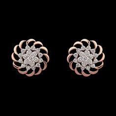 Diamond Earrings Indian, Diamond Earing, Solitaire Earrings, Diamond Pendant Necklace, Diamond Jewelry, Gold Earrings, Earring Studs, Jewelry Art, Gold Jewelry