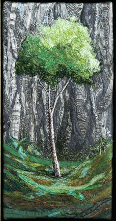 Small Clearing #3 by Lorraine RoyThis is still trees but so different from the many other tree quilts.  Lovely!