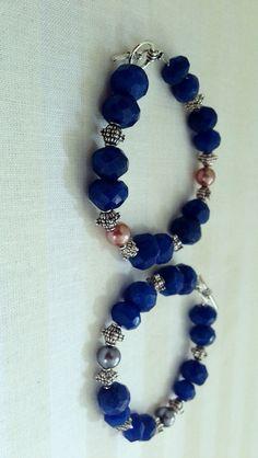 blue stone bracelets