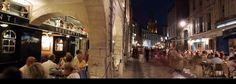 La Rochelle, France at night