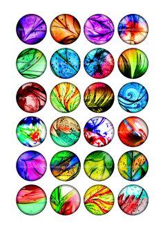 Images abstraites imprimable ovale pour les Cabochons, pampilles, capsules de bouteilles, Scrapbooking, aimants.  ■ les Images de cercle en 1,5 pouces, 1.25 pouce, 30mm, 25mm et 1 pouce, chaque taille sur une feuille séparée.  ■ Feuille de Collage tailles 8.5 x 11» - A4 haute qualité 300dpi JPG  ◆ les mêmes images dans 0,5 pouces, 12mm, 14mm, 16mm, 20mm https://www.etsy.com/listing/189474612/neon-lights-05-inch-12mm-14mm-16mm-20mm  ■ Même des images en forme ovale…