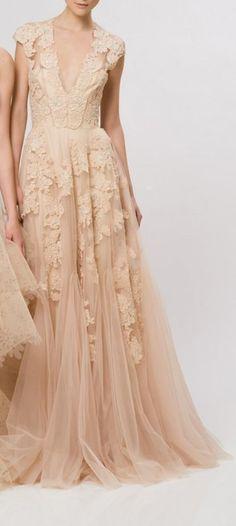 Ombre Blush Wedding Dress Robe de mariée nude / rose poudre La Fiancée du Panda blog mariage