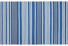Phobos Flat-Weave Rug, Blue