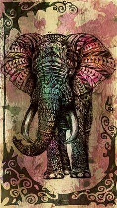 Tribal Elephant Wallpaper