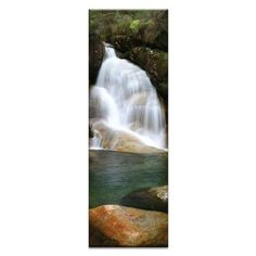 Artist Lane Lady's Bath Falls by Andrew Brown Wrapped Photographic Print on Canvas