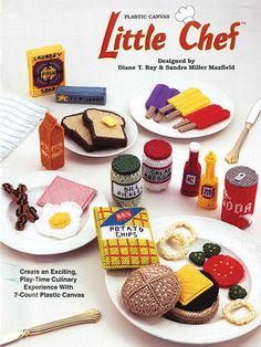 Little Chef food plastic canvas patterns