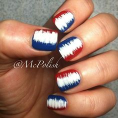 Stunning nail art ideas — from easy DIY to crazy design ideas — one week at a time: of July nails. Get Nails, Fancy Nails, How To Do Nails, Pretty Nails, Do It Yourself Nails, Patriotic Nails, Nagel Gel, Creative Nails, Holiday Nails