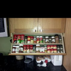 Cabinet Aides Fold Down Under Cabinet Spice Rack New Kitchen Shelf ...