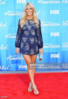 Singer Carrie Underwood arrives at Fox's 'American Idol 2012' Finale Results Show at Nokia Theatre L.A. Live on May 23, 2012 in Los Angeles, California.