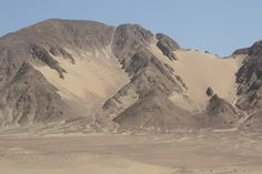 Desert road, between Ica and Nazca, Peru.