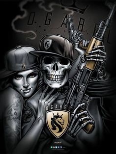 Chicano Tattoos, Skull Tattoos, Chicano Drawings, Body Art Tattoos, Gangster Tattoos, Skull Drawings, Evil Tattoos, Tatoos, Oakland Raiders