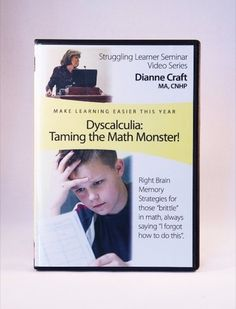 Right Brain Math (Also titled Dyscalculia: Taming the Math Monster) - Dianne Craft MA, CNHP Store Math Help, Fun Math, Learn Math, Memory Strategies, Brain Memory, Dyscalculia, Math Courses, Whole Brain Teaching, Daily Math