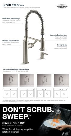 KOHLER Sous Pro-Style Single-Handle Pull-Down Sprayer Kitchen Faucet in Chrome-K-R10651-SD-CP - The Home Depot