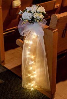 Church Wedding Decorations Aisle, Small Church Weddings, Simple Church Wedding, Wedding Church Aisle, Wedding Pews, Red Bouquet Wedding, Wedding Chairs, Wedding Flowers, Wedding Attire