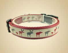 Obroża dla psa Moose Dark red - OssoDiCane - Obroże dla psów