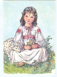 March Baby, New Fine Arts, Baby Lamb, Believe In God, Vintage Postcards, Art Boards, New Art, Illustration Art, Book Illustrations